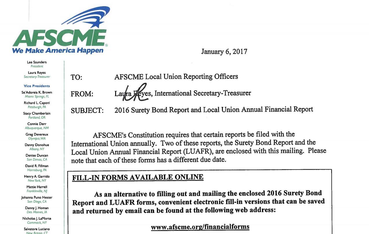 Surety Bond and LUAFR forms cover letter