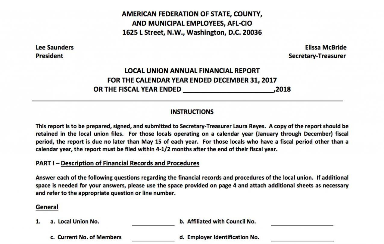 Local union annual financial report form secretary treasurer local union annual financial report form thecheapjerseys Image collections