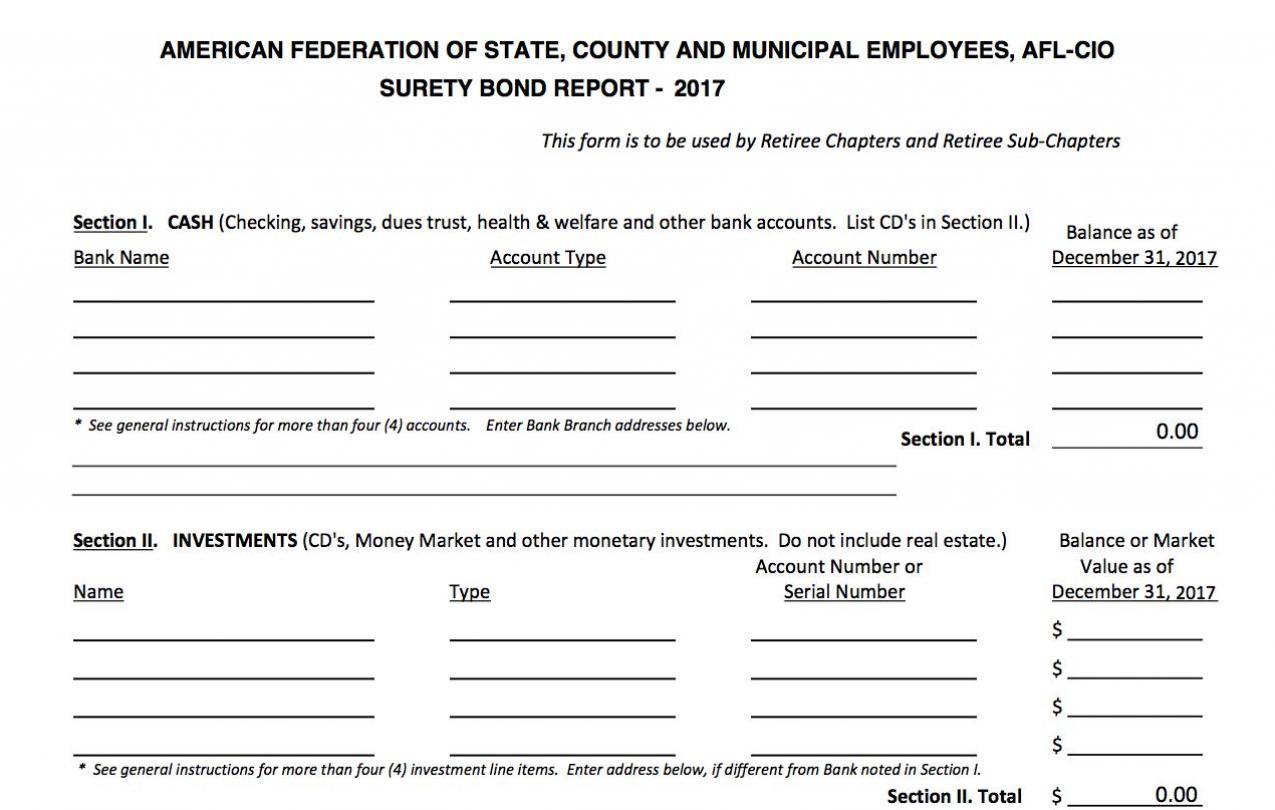 2017 Surety Bond Form for Retiree Chapters